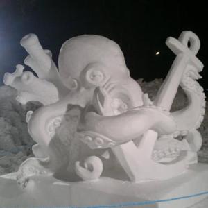 Ледяная скульптура: Осьминог