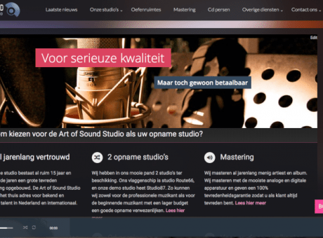 opnamestudio art of sound nieuwe site