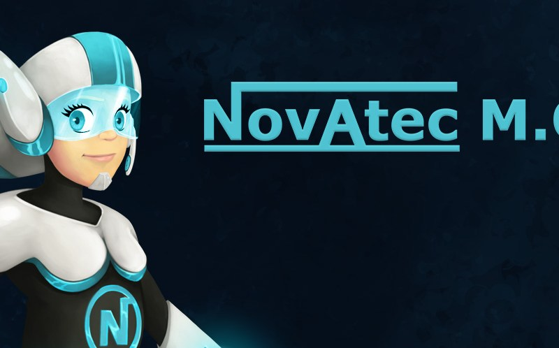 Illustrations cartoon de super héros pour l'entreprise Novatec M.O