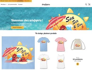 Ouverture de ma nouvelle boutique Spreadshirt
