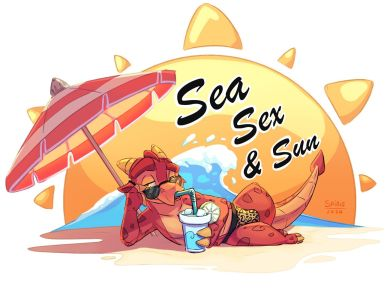 Sea sex and sun illustration