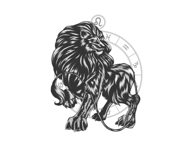 Illustrations des signes astrologiques du Lion et du Bélier