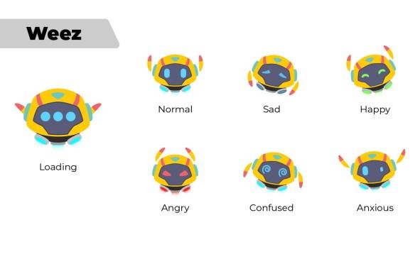 mascotte de l'application mobile Weeprep