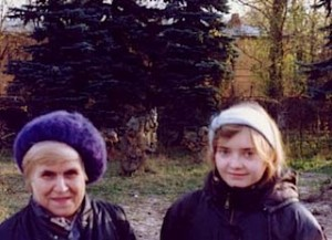 Dr. Galina Manke and one of her students in a Russian park