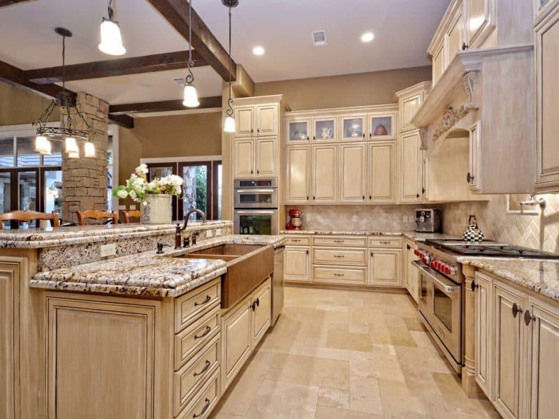 Jaw-Dropping Granite Countertop Kitchen Ideas • Art of the ... on Kitchen Farmhouse Granite Countertops  id=88342