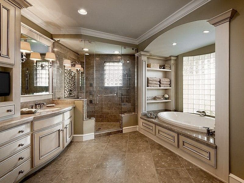 9 Master Bathroom Designs for Inspiration [Curated Photo ... on Restroom Ideas  id=23601
