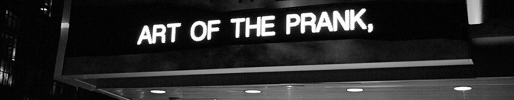 SVA Art of the Prank marquee