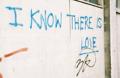 I know there is love graffiti