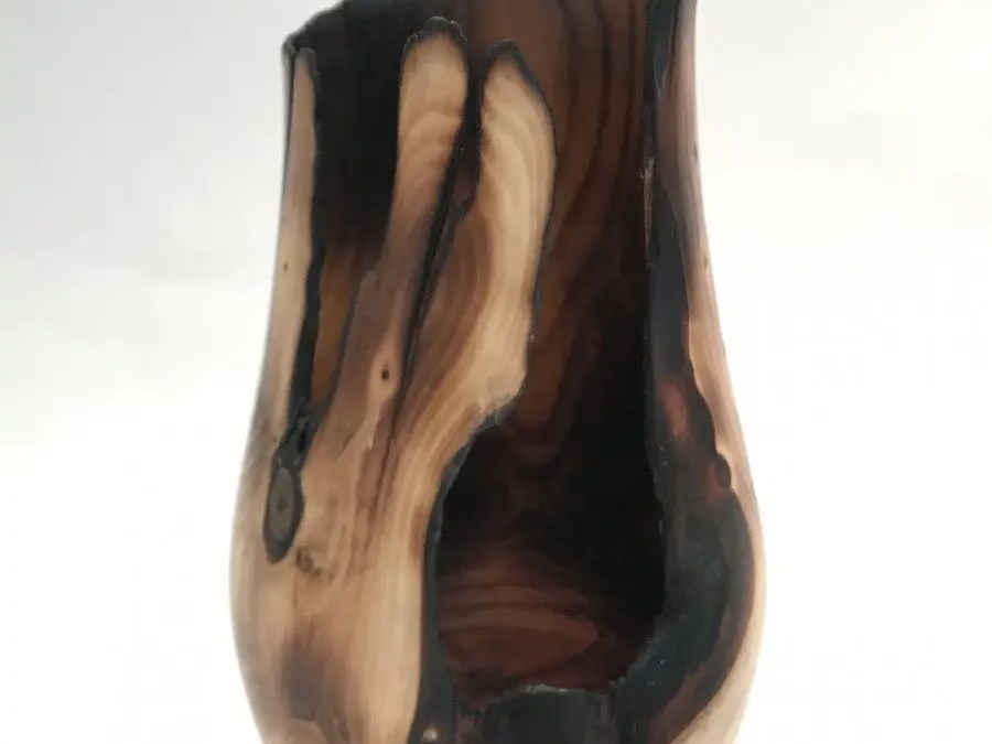 Phoenix in Yew – Woodturned Vase