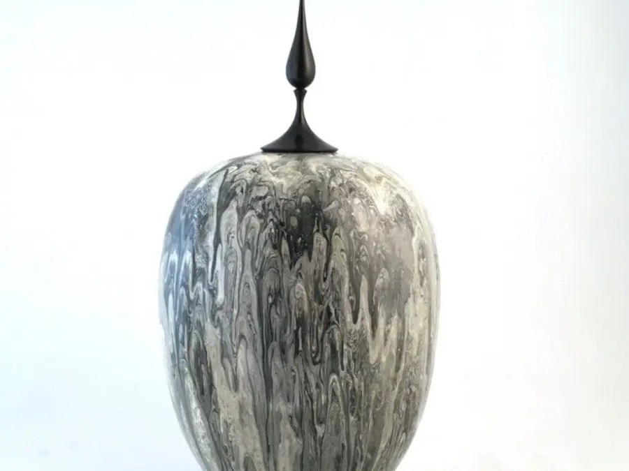 Shades of Grey – Mulberry Vase