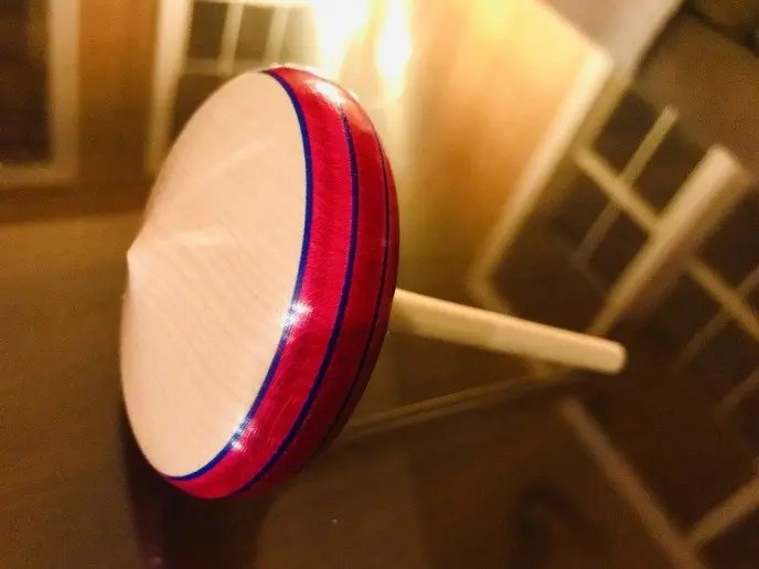 Maple Wood Spinning Top