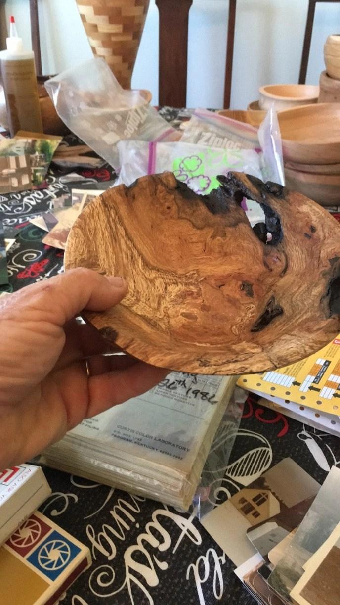 Spalted oak burl bowl by Eric Winckler