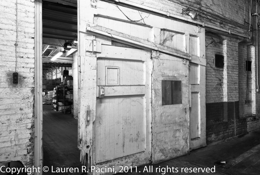 An Original Door Separating Sections of the Winton Factory