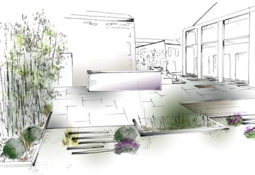 dessin de terrasse