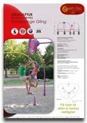 Klätterlek GLING ARTOTEC lekskulpturer och park/urbana möbler med KONST & TEKNIK