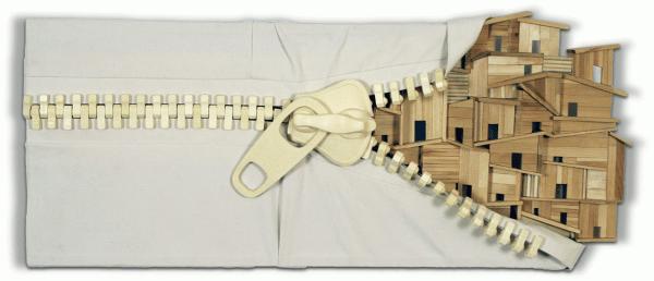 [Clin d'art #175] «Uniformisation parallèle 12». 2015. Sébastien Borduas. Bois et résine. 44 x 104 cm 15 $ par mois pour un particulier (taxes incluses). © L'Artothèque. Tous droits réservés.