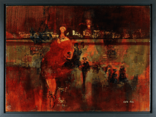 [Clin d'art #150] «Drôles de dames». 2010. Édith Rémy. Techniques mixtes. 61.7 x 82 cm 18 $ par mois pour un particulier (taxes incluses). © L'Artothèque. Tous droits réservés.