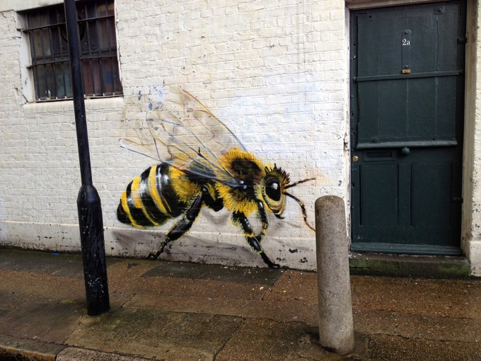 Bees On The Walls To Make People Aware Of Colony Collapse