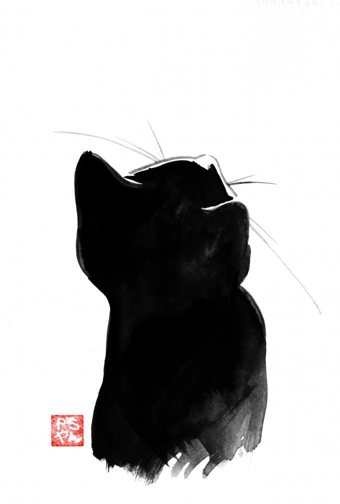 Cats In SUMI E Art People Gallery