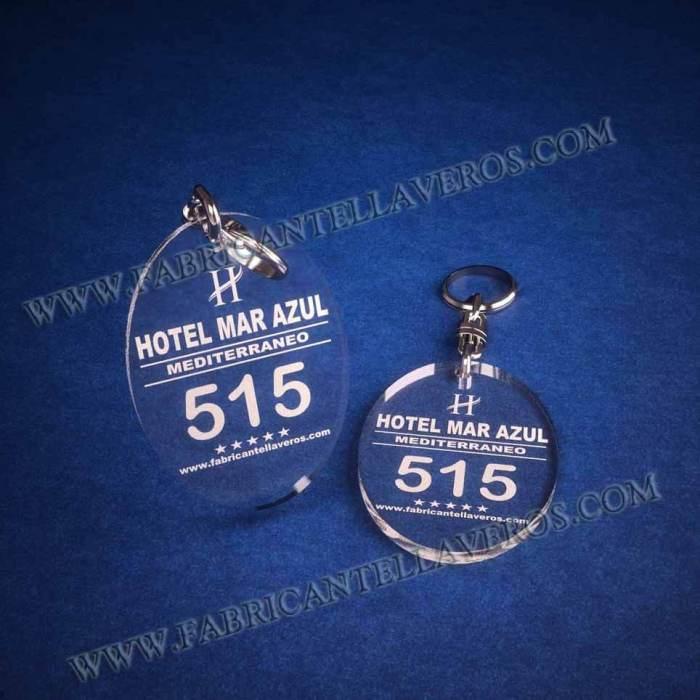 llaveros personalizados baratos grabados para hoteles ovalados