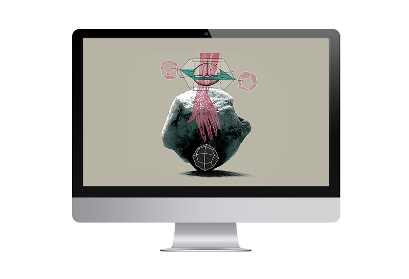 free computer  and iPhone screen wallpaper downloads with art by designer jess clark and artist Abi daniel