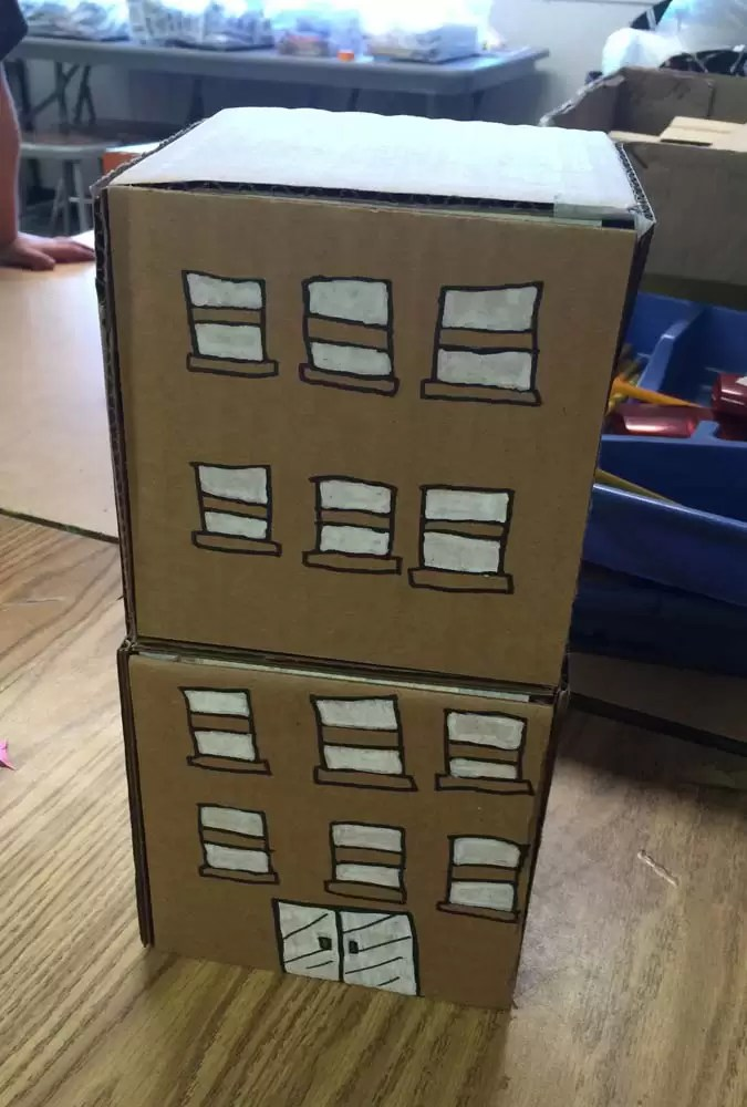 Cardboard Buildings Art Projects For Kids