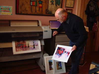 Printing on an Epson 9600 wide format with archival inks