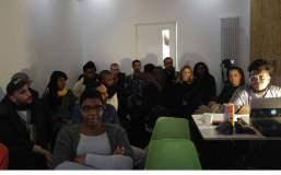 Peer mentoring session at Cubitt
