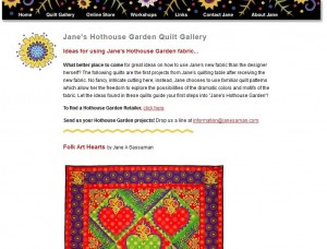 Jane Sassaman Patterns etc