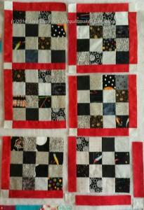 Sew sashing #27 to block #28