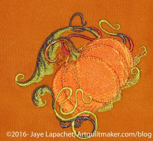 Pumpkin motif for napkins