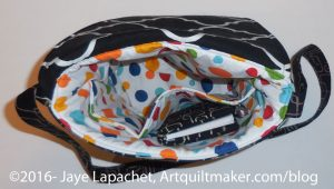 Flip Flap Bag inside view