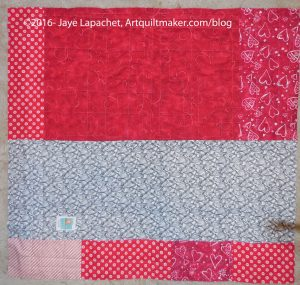 Red & White Donation Quilt back