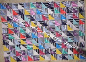 Ta Dots & Stripes HST Quilt Layout n.2
