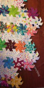 Hexie Stars -Big Piece detail