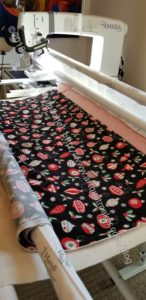 Quilting the Christmas Mat