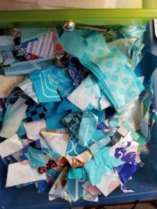 Blue scrap drawer
