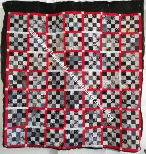 Black & Grey Teenaged Boy Donation Quilt - quilted