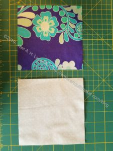 Cut 2 pieces of fabric