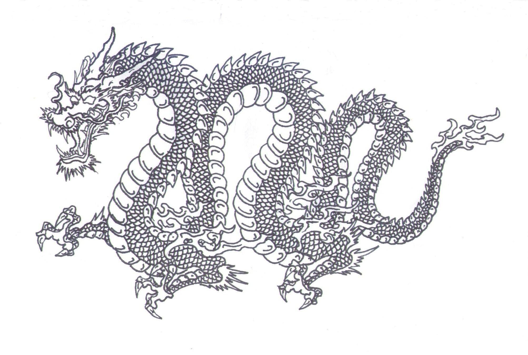 Japanese Dragon Paintings