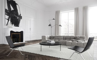 Appartement Paris - Living Room © Talcik Demovicova