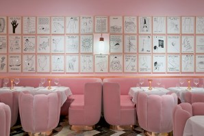 Restaurant The Gallery at Sketch, à Londres, design India Mahdavi (2014).