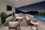 Villa 1442 Tanager WAY - Terrace with Sofa and L.A View