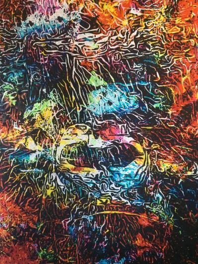 King Kong, 2016. Pièce unique. Techniques mixtes. 200 x 145 cm.