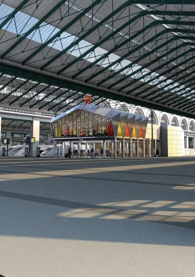 Brasserie L'Étoile du Nord, inaugurée le 16 novembre, Gare du Nord à Paris.
