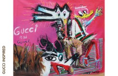 Gucci and Gucci John Paul Fauves Technique : mixte, acrylique sur toile, 190 cm x 230 cm, 2017.