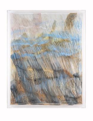 Promeneur Solitaire Georgia Russell Technique : acrylique sur toile (découpée) et plexiglas, 200 x 160 x 17 cm, 2016.