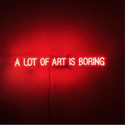 Steven Dobbin, A lot of art is boring