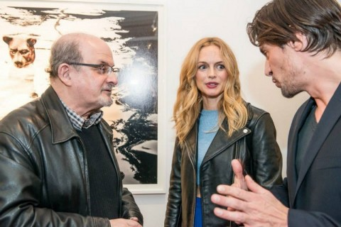 Heather Graham and Salman Rushdie