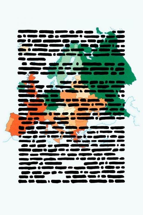 Emlio Isgrò, Preghiera per l'Europa, immagine creata per la XII giornata AMACI per il contemporaneo 2016